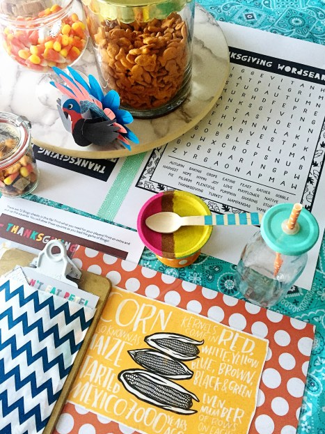 I loved the little cupcake stands. These were made with an Ikea coaster paint and stuck to the top of a measuring cup. you could glue them to any number of things to make them appear more special.