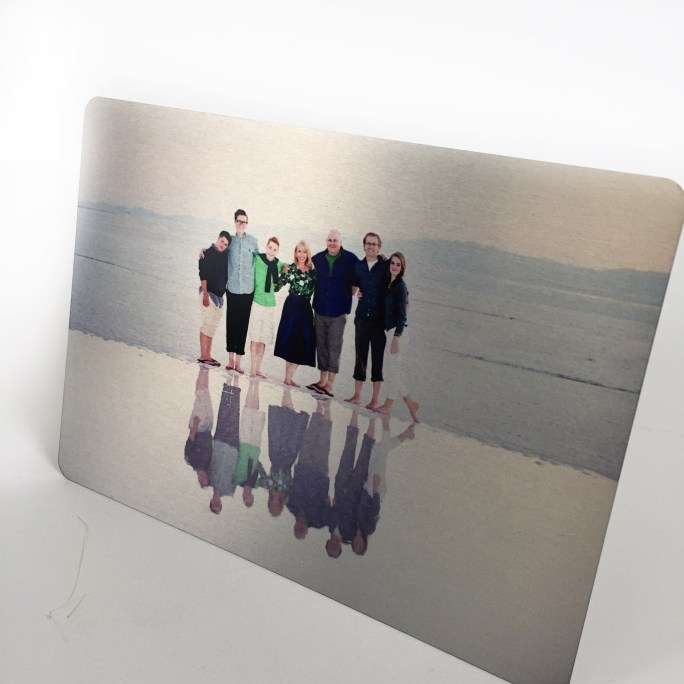 metal photo, valentines for guys, printed on metal,