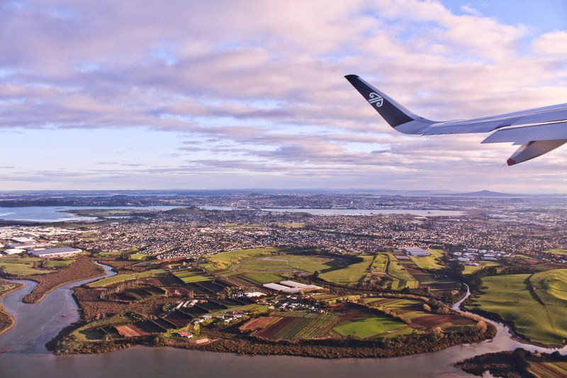Auckland from the air