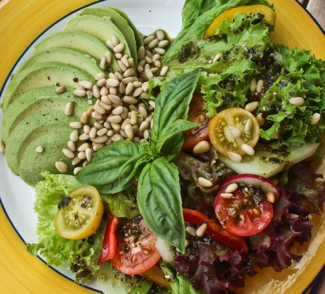 Avocado and pine nut salad at the Boatshed Cafe