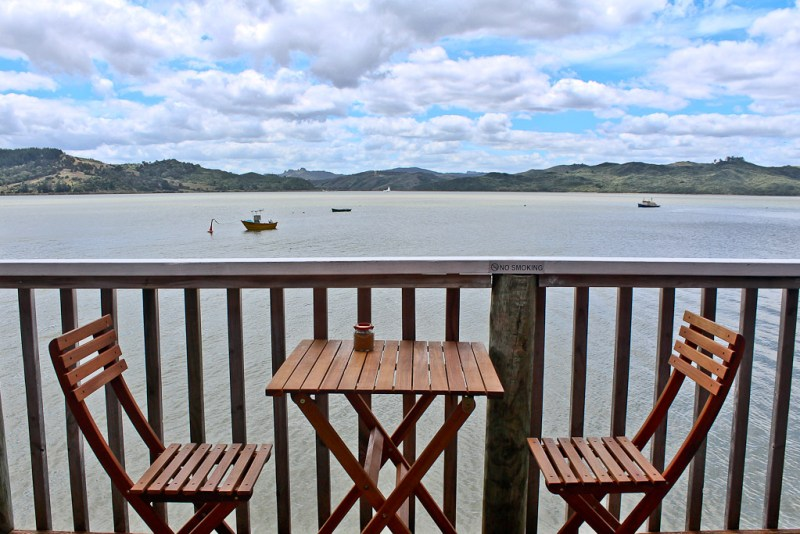 View from the Boatshed Cafe, Rawene