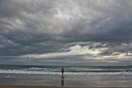 Moody New Year's Day morning at Whangapoua