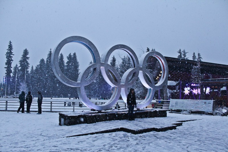 Olympic rings in Whistler Village