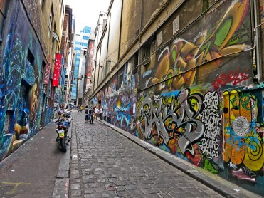 Street art in Melbourne's laneways