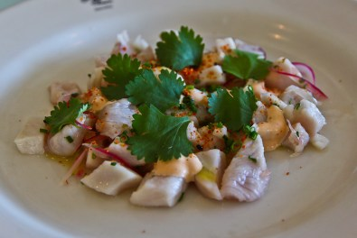 Swordfish and kingfish ceviche at The Oyster Inn
