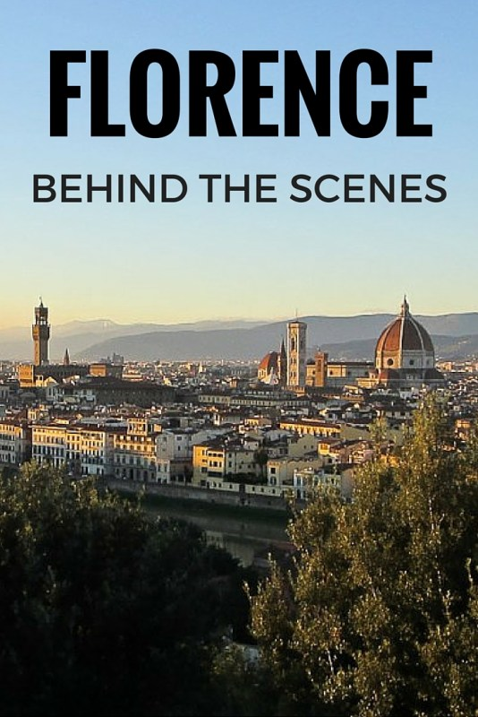 florence behind the scenes
