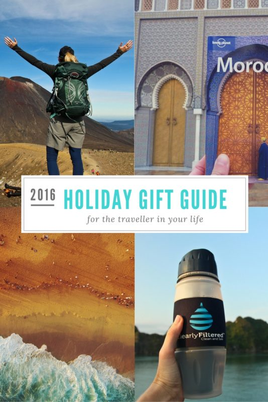 Check out this 2016 holiday gift guide for ideas for the traveller in your life!
