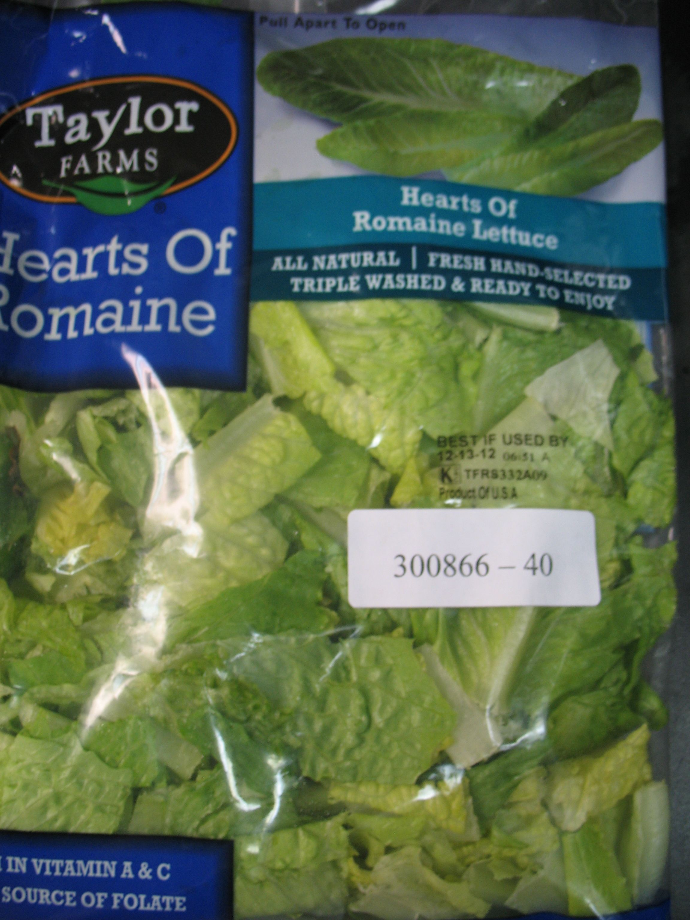 Taylor Farms Hearts Of Romaine Recalled Due To Potential