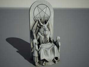 Oklahoma's 'Satanic Monument' Nears Completion Next to Ten Commandments