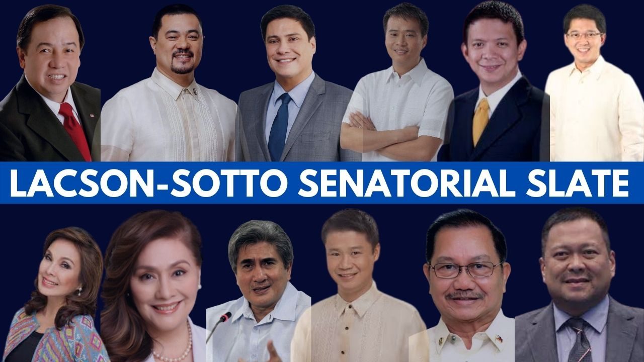 Lacson-Sotto tandem released their senatorial slate