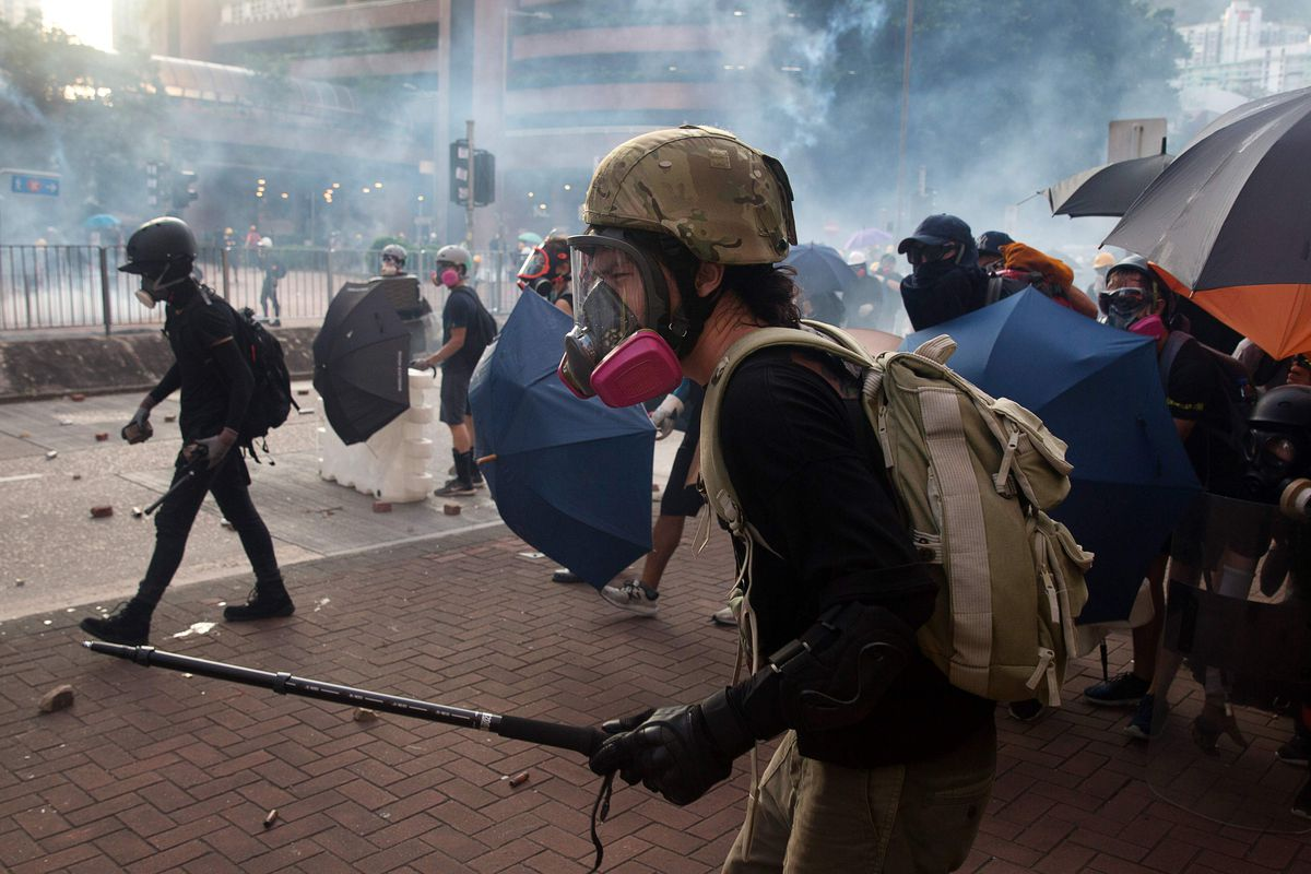 Hong Kong Police Fire Tear Gas Rubber Bullets General