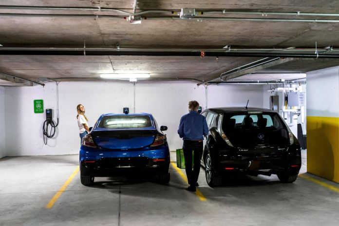 condos grappling with demand for electric car charging stations