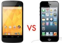 iphone 5 and nexus 4