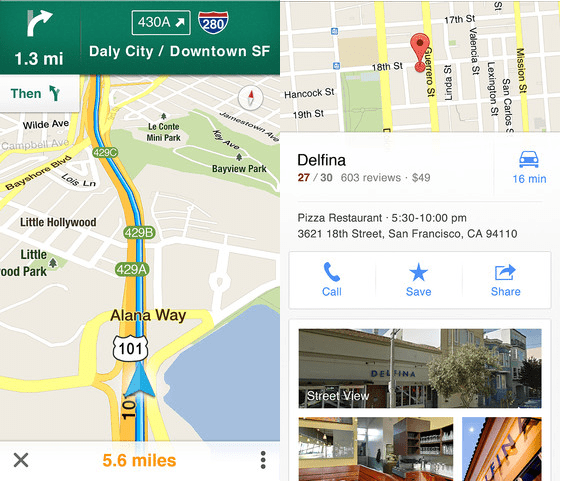 google maps for ios