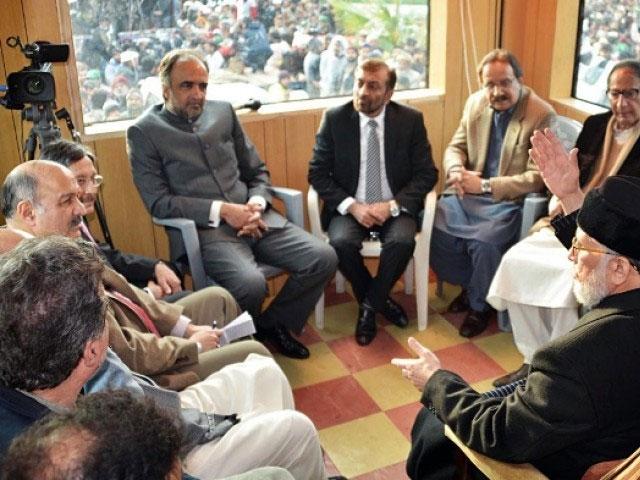 Tahir-Qadri Retreated Long march