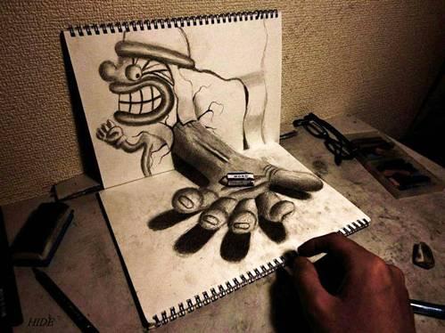 amazing 3d paper art , 3d paintings