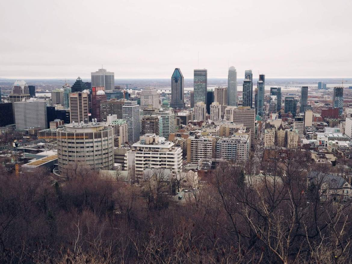 View from Chalet du Mont Royal in Montreal