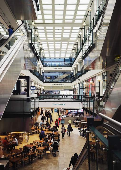 Eaton Center in Underground City, Montreal