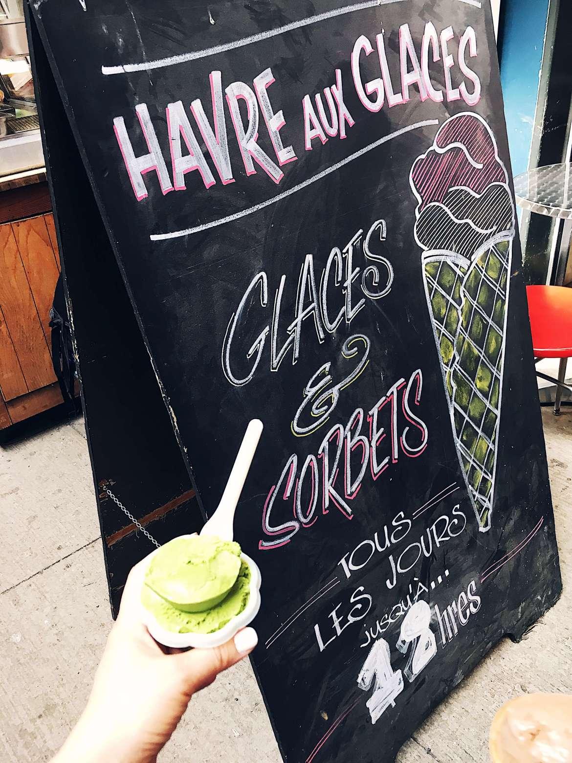Ice Cream at Jean-Talon Market in Montreal