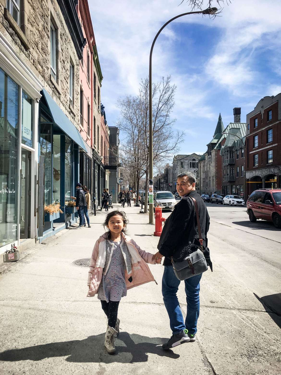 Walking in Mile End, Montreal