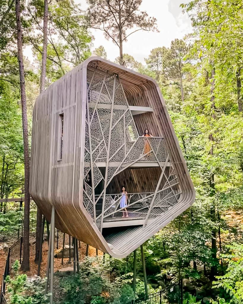 Outside view of Tree House at Garvan Gardens