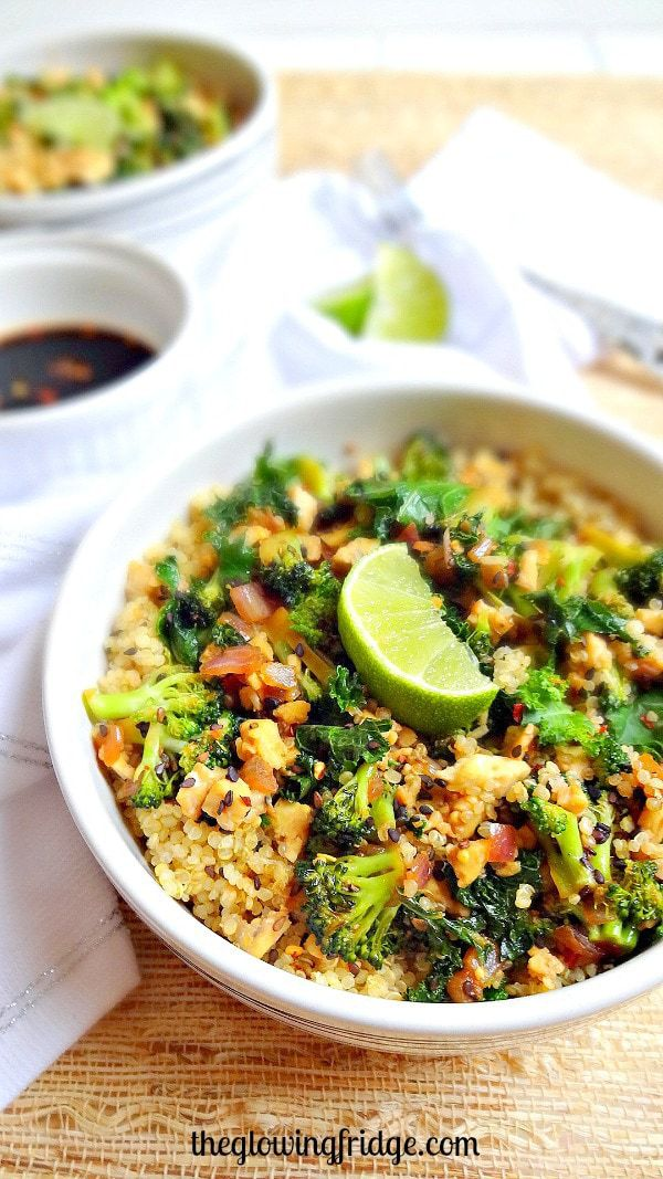 Sesame Kale Quinoa Bowl -- a recipe that will make you feel radiant and healthy!