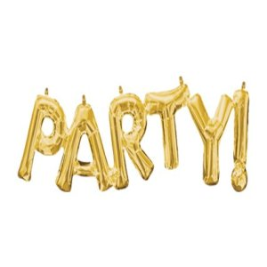 Globo Mylar Party Gold