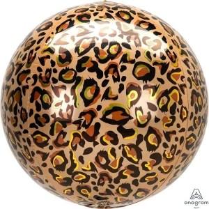 Globo Mylar Orbz Leopardo