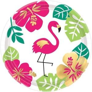 Platos de Carton Flamingo