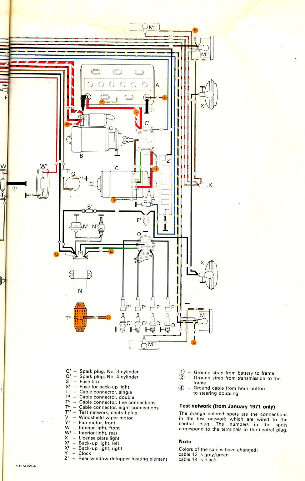 Corvette Schematics Diagrams 1971 Bus Wiring Diagram Thegoldenbug Com