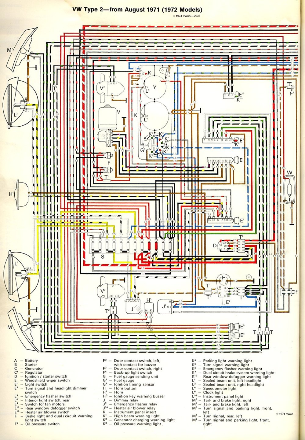 medium resolution of 1972 bus wiring diagram thegoldenbug com 1972 vw karmann ghia wiring diagram 1972 vw beetle alternator wiring diagram