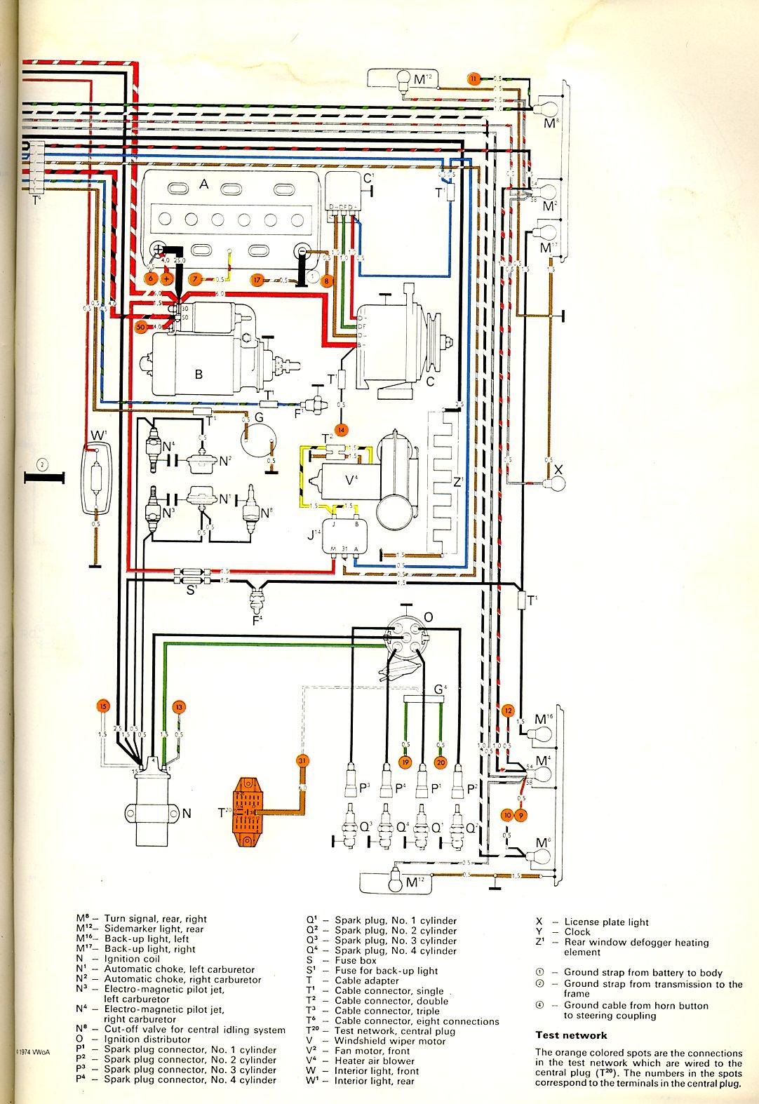 1968 Vw Bug Wiring Diagram 1972 Bus Wiring Diagram Thegoldenbug Com