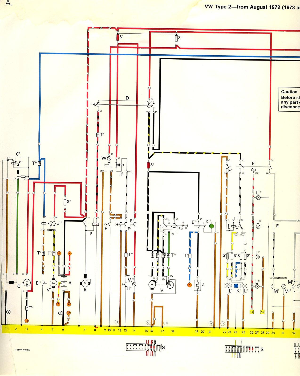 1976 Corvette Engine Compartment Diagram 1973 74 Bus Wiring Diagram Thegoldenbug Com