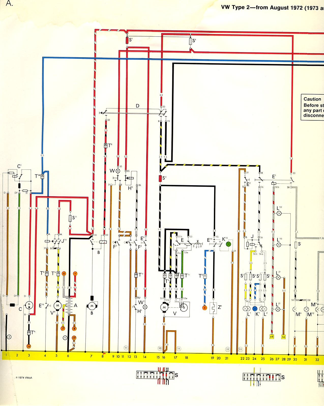 1973 vw bus wiring diagram electric scooter 74 thegoldenbug