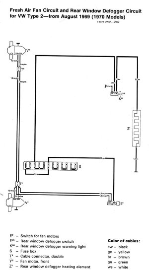 1970 Bus Wiring diagram | TheGoldenBug