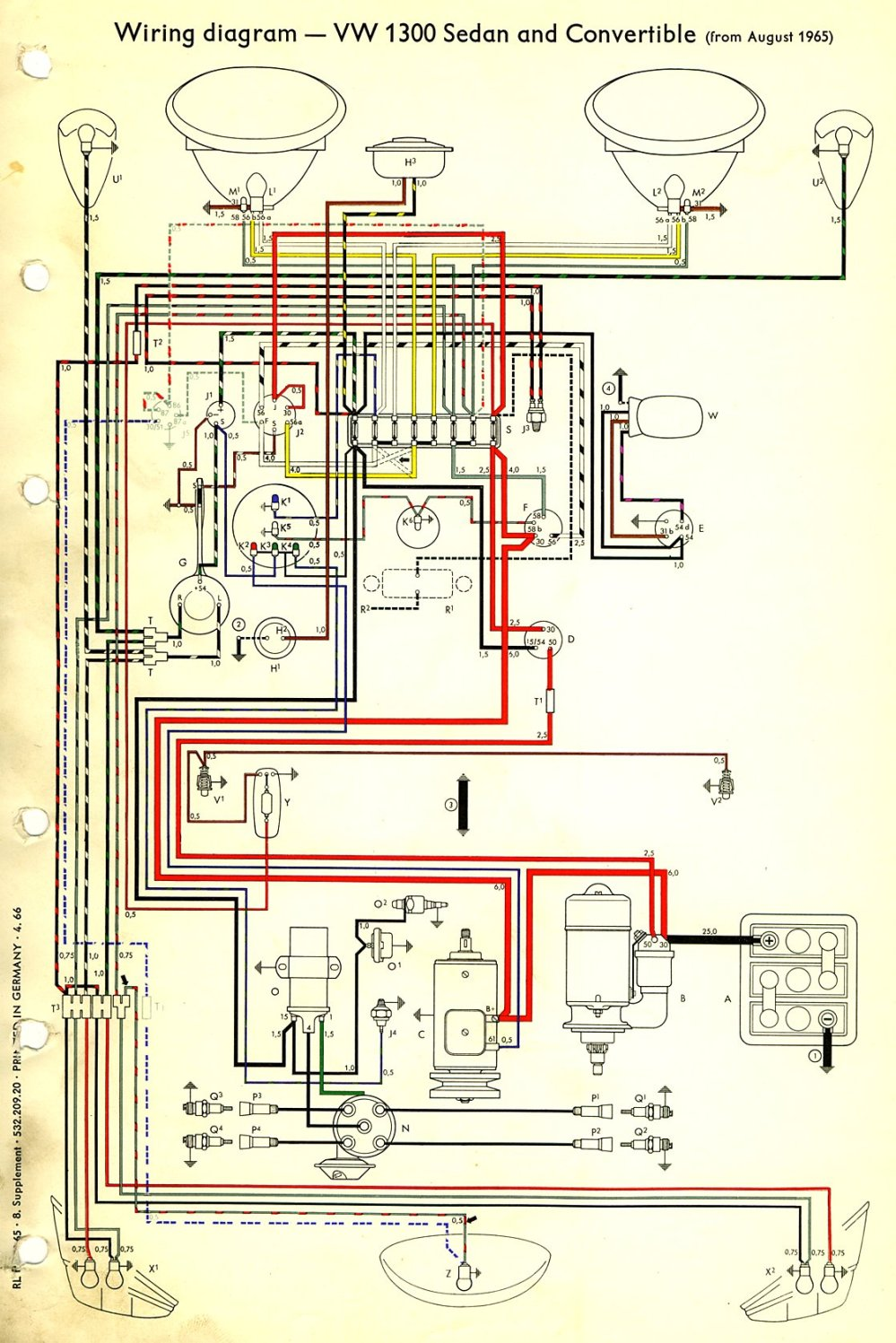 medium resolution of 1966 beetle wiring diagram
