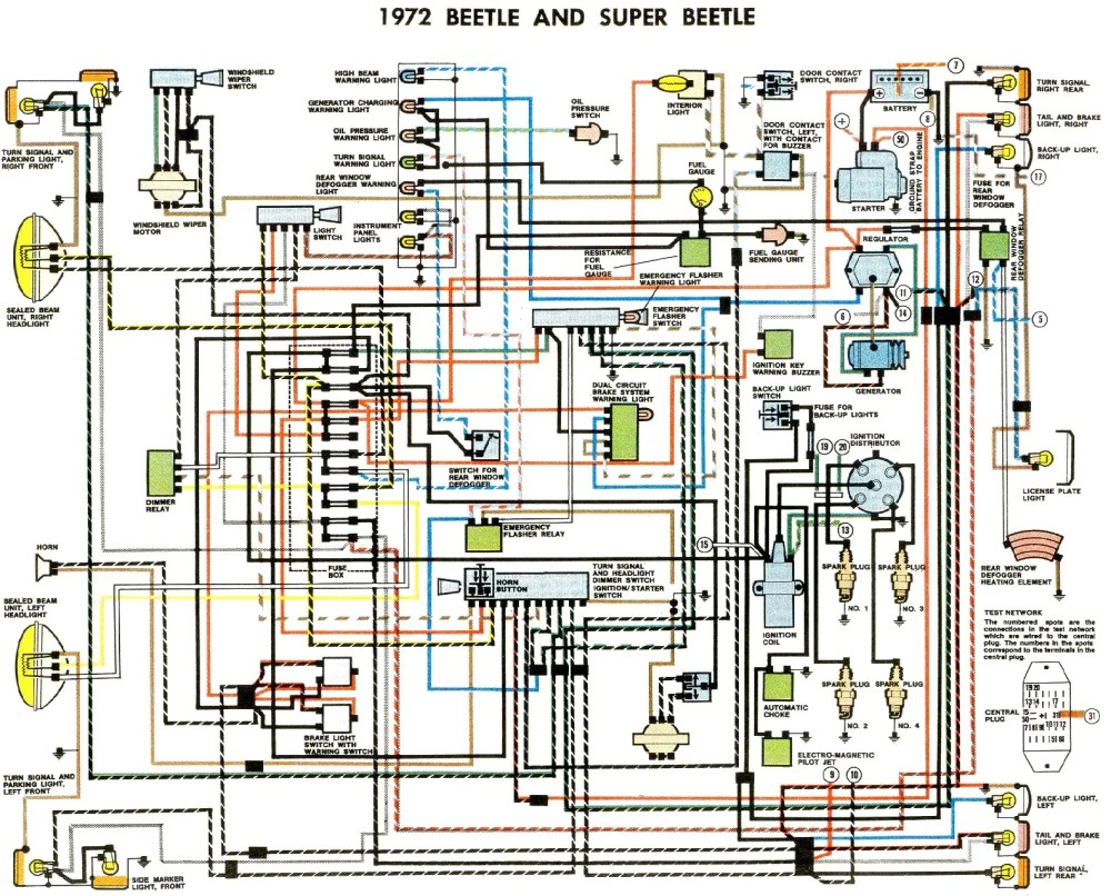 medium resolution of 1972 vw beetle wire schematic wiring diagram sheet 1972 super beetle wiring diagram 1972 beetle wiring