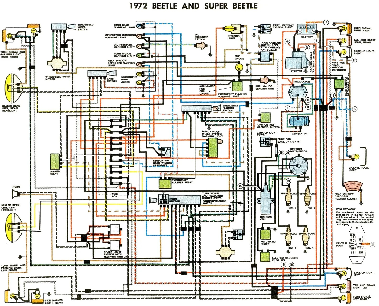 hight resolution of 1972 beetle wiring diagram thegoldenbug com vw t2 1972 wiring diagram 1972 vw squareback wiring diagram