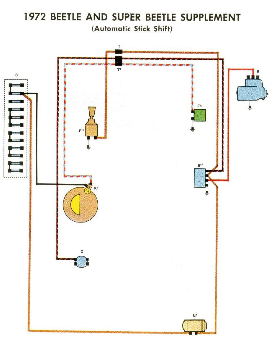1968 Vw Bug Wiring Diagram 1972 Beetle Wiring Diagram Thegoldenbug Com