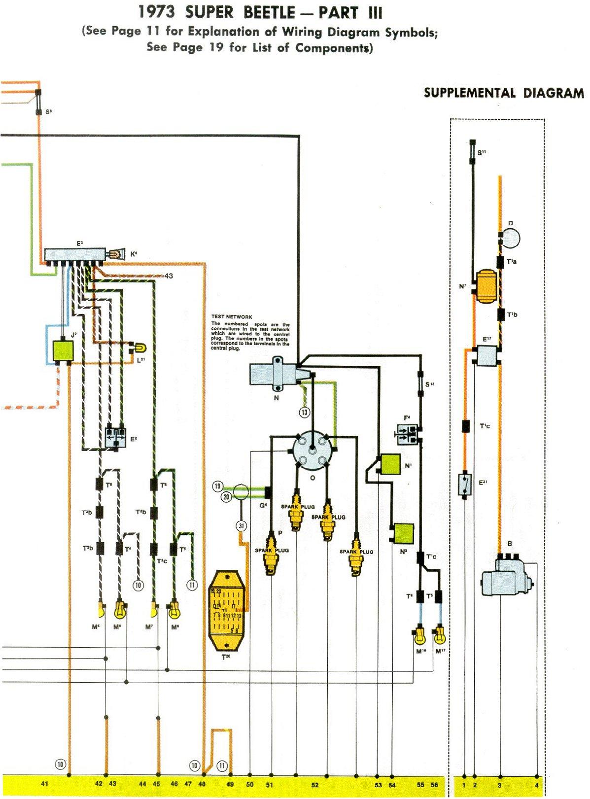 1973 Super Beetle Wiring Diagram TheGoldenBug Com