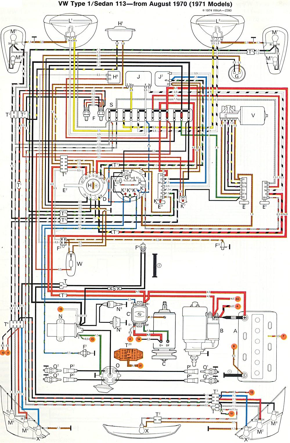1971 Super Beetle Wiring Diagram TheGoldenBug Com