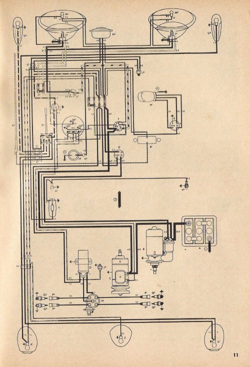 small resolution of 1958 vw wiring diagram schema wiring diagram1968 vw wiring schematic 14