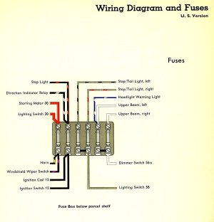 1959 Bus Wiring Diagram (USA) | TheGoldenBug