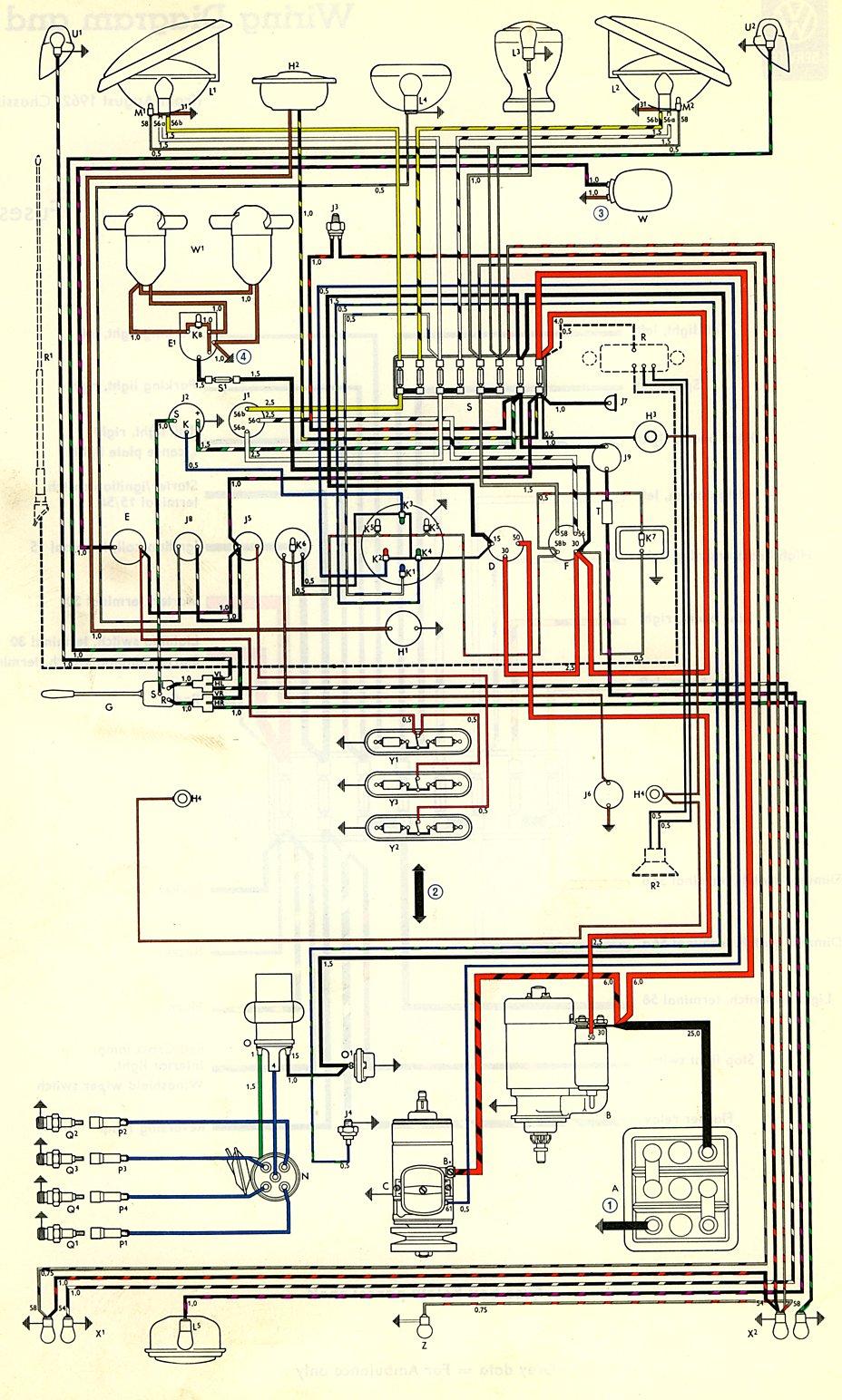 1971 Vw Bus Wiring Harness 1963 Bus Wiring Diagram Usa Thegoldenbug Com