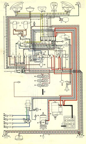 1963 Bus Wiring diagram | TheGoldenBug