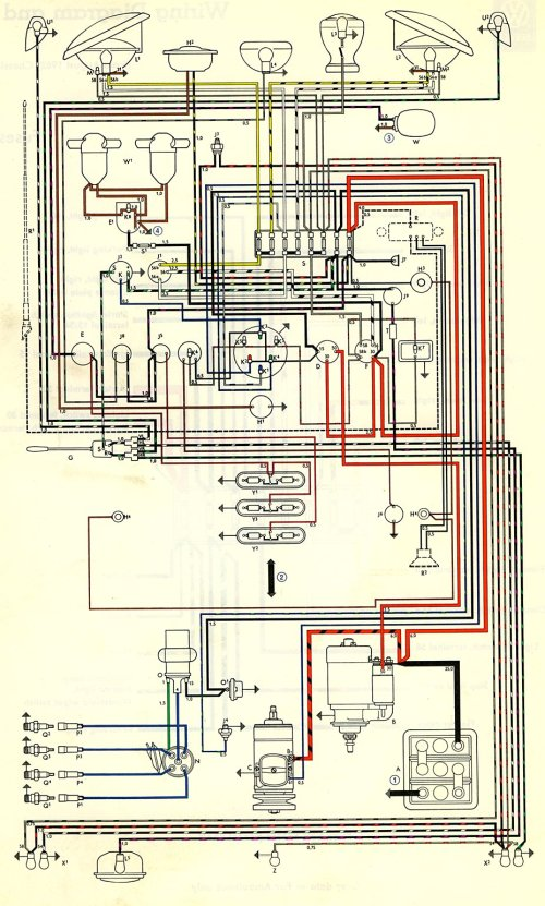 small resolution of 1968 vw beetle wiring diagram