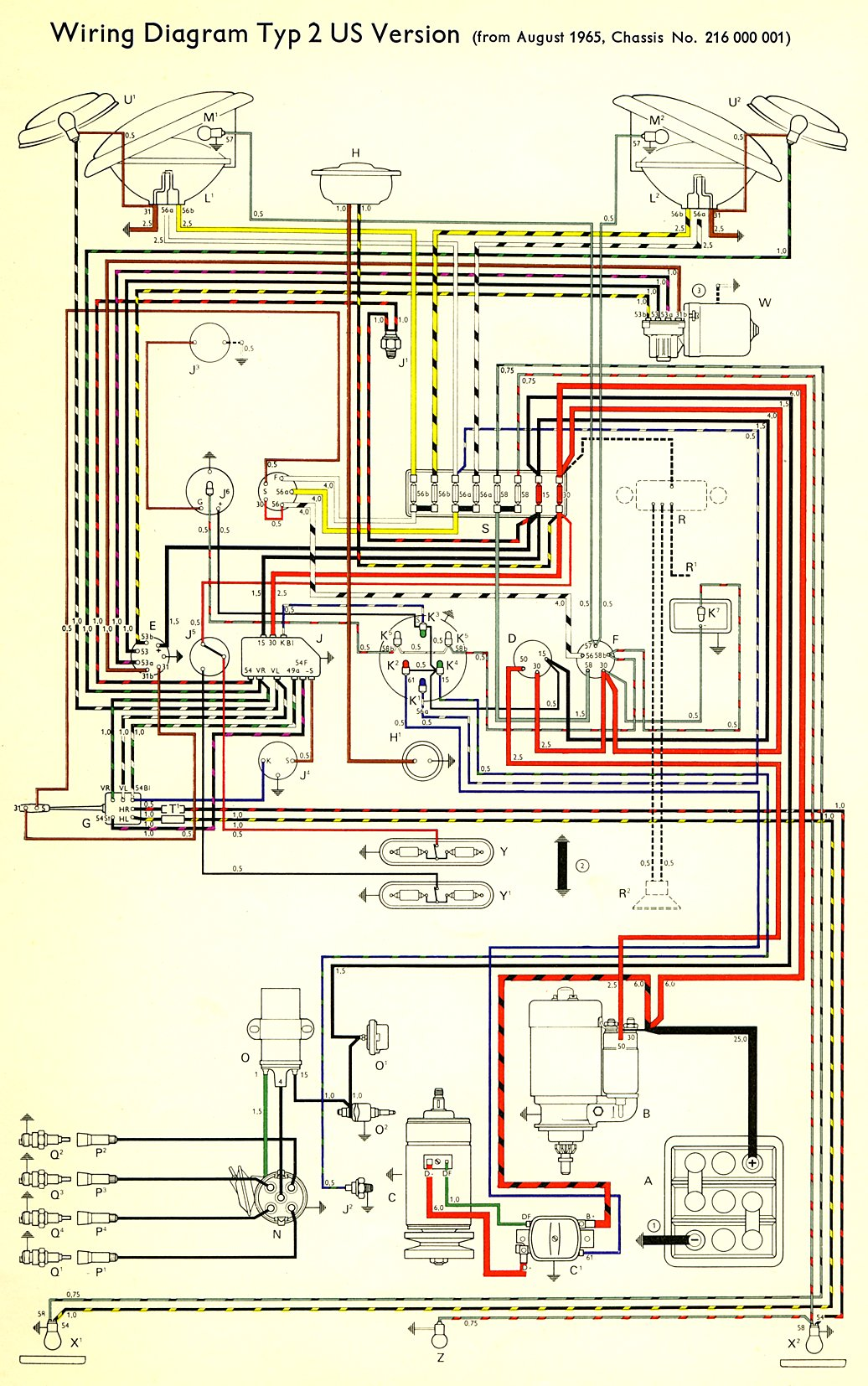 hight resolution of 1966 bus wiring diagram usa thegoldenbug com rh thegoldenbug com vw bus engine diagram 1969 vw