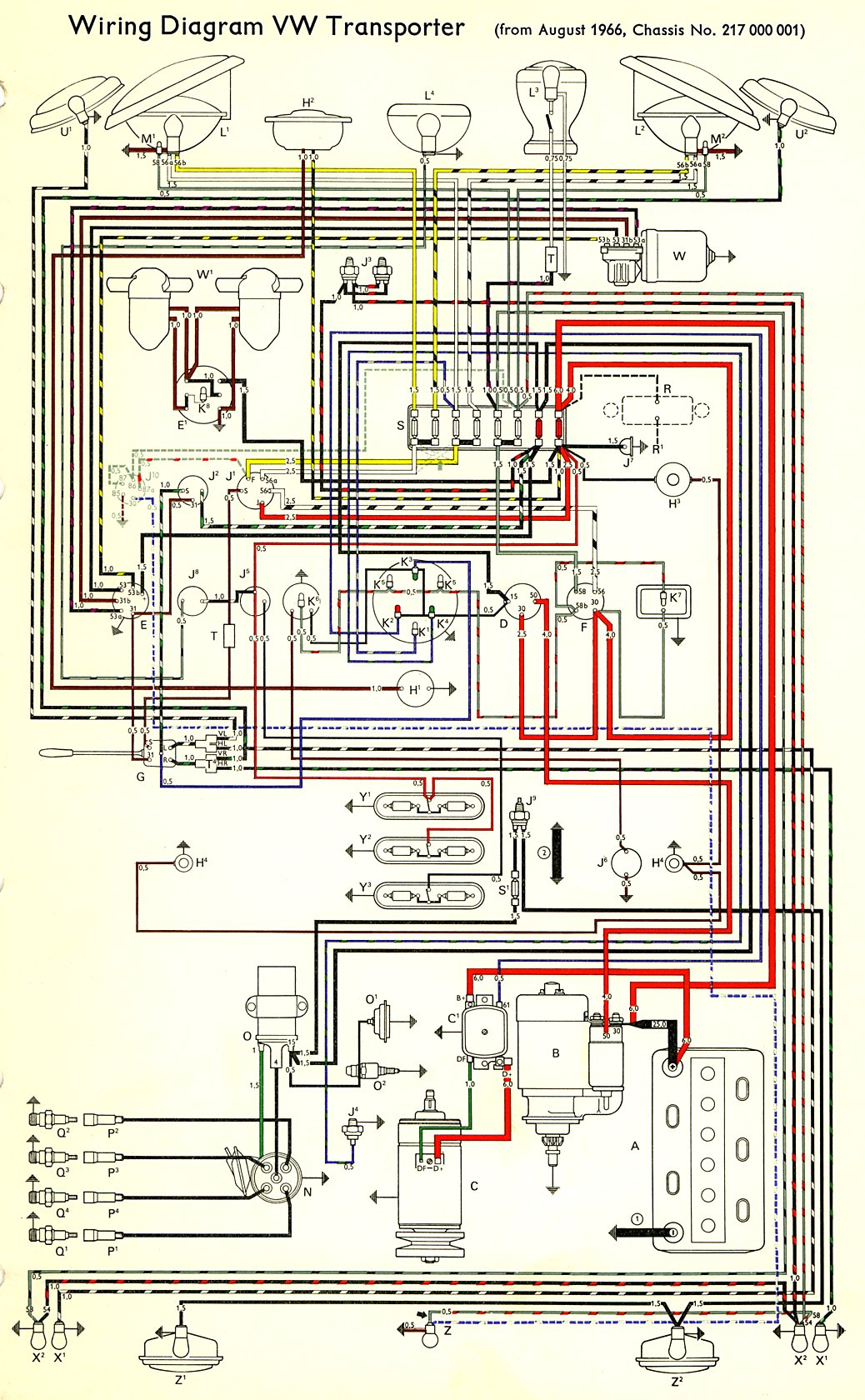 vw wiring diagram alternator yamaha tach 1967 bus | thegoldenbug.com