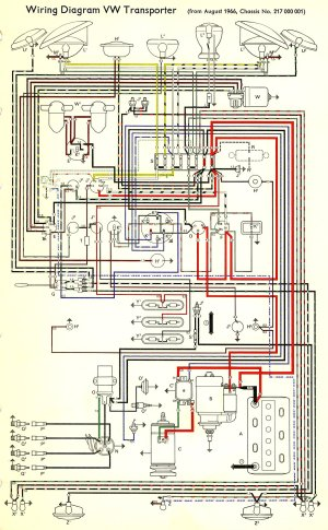 1967 Bus Wiring diagram | TheGoldenBug