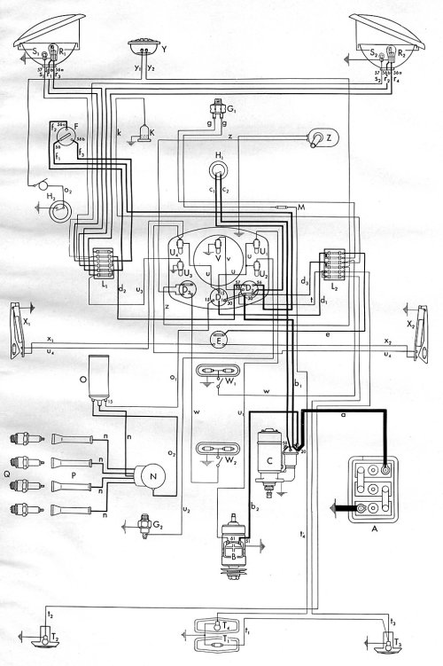 small resolution of 1953 bus wiring diagram thegoldenbug com rh thegoldenbug com wiring diagrams for 2007 volkswagen volkswagen dune buggy wiring